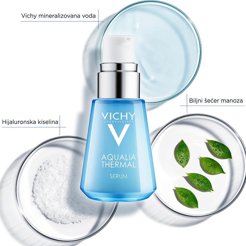 aqualia-thermal-serum-intenzivna-hidratacija; suva-isusena-koza; lice; vichy; hijaluronska-kiselina; crvenilo; dehidrirana-koza; hidratacija; termalna-voda; alergija-hipoalergeno; meka-koza