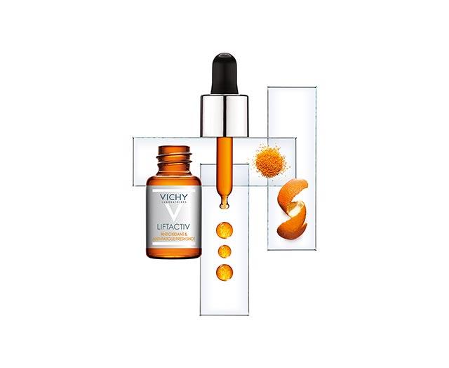 liftactiv-freshshot-antioksidativni-tretman ; serum-za-lice; vitamin-c; nega-protiv-bora; duboke-bore; lifting-dejstvo; bore-smejalice; anti-age-efekat