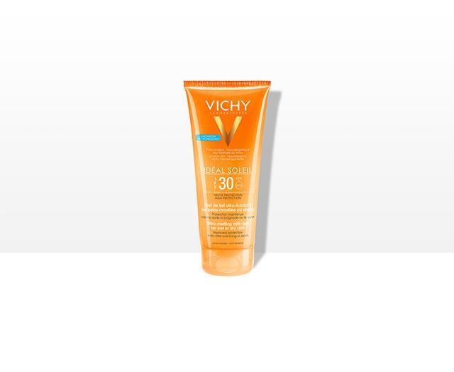 1-vichy-ideal-soleil-gel-mleko–spf-30–za-mokru-i-suvu-kozu-mleko-za-suncanje-visoka-zastita-krema-za-suncanje-za-sportiste